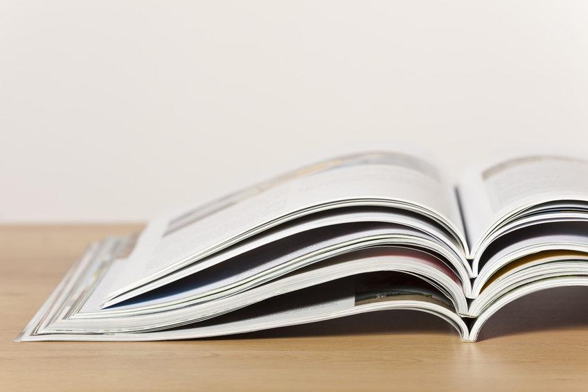 Stapel Zeitschriften